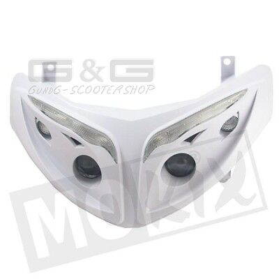 Headlight Quattro White with LED INDICATOR E - Approvals CE Peugeot Speedfight 2