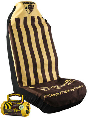 Official Afl Car Seat Cover - Collingwood Magpies