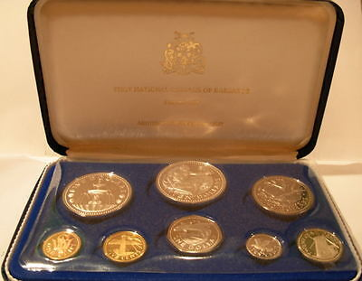 Barbados 1973 Full 8 Coin Proof Set with 2 Silver Coins