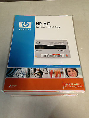 10x HP Q2005A AIT Tape Barcode Label Pack (Total 1000 Labels)