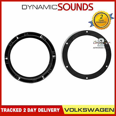 "CT25VW04 20cm 200mm 8"" Front Door Car Speaker Adaptors For VW Golf MK5 (2003-08)"