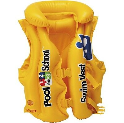 INTEX SWIM VEST swimming childs kids INFLATABLE float jacket 3-6 Years
