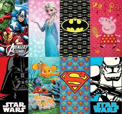 New Official Large Beach Bath Towel Batman Superman Avengers Frozen Star Wars