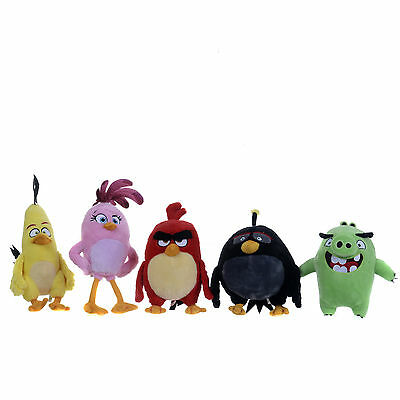 """New Official 12"""" 5"""" Angry Birds The Movie Plush Soft Toy Angry Bird Collection"""