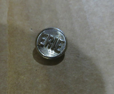 Vintage Erie Railroad Conductor's Nickel Uniform Button Small Size Good