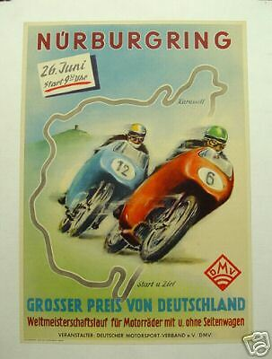 Grand Prix Germany 1955 motorcycle; ORIGINAL race event poster