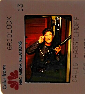 DAVID HASSELHOFF GRIDLOCK BAYWATCH AMERICAS GOT TALENT Knight Rider 35MM SLIDE 1