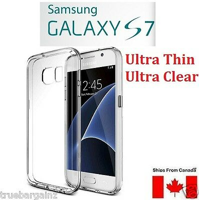 Samsung Galaxy S7 Clear Case - 0.3Mm Transparent Slim Soft Silicon Cover Sm-G930