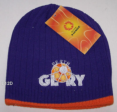 Perth Glory FC Hyundai A League Mens Purple Embroidered Beanie New