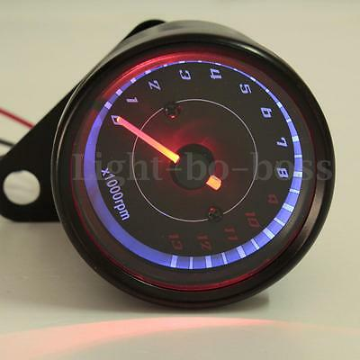 12V Universal Motorcycle LED Tachometer Bike Backlight Tacho Gauge 13000 RPM
