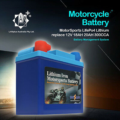 12V 300CCA Top Quality Lithium Motorbike Battery LFP20L-BS Harley Davidson Honda