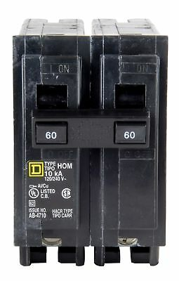 Square D Homeline 60 Amp Circuit Breaker HOM260 *NEW*