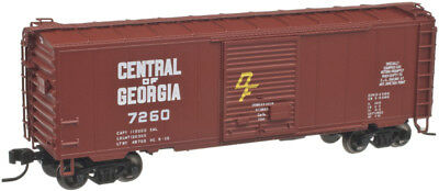 N Scale - ATLAS 50 001 763 CENTRAL of GEORGIA 40' PS-1 Box Car # 7260