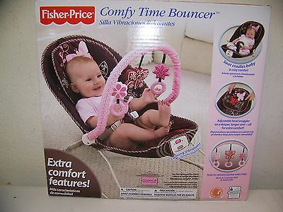 Fisher Price Baby Comfy Mocha Butterfly Fashion Bouncer Infant Seat New
