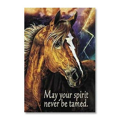 "LEANIN TREE ""May Your Spirit Never Be Tamed"" #25595 Horse Refrigerator Magnet"