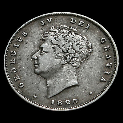 1825 George IV Bare Head Milled Silver Shilling – GVF / VF