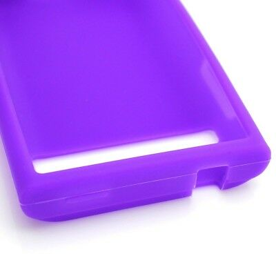 Purple Soft Silicone Phone Cover Case for LG Optimus Logic / Dynamic