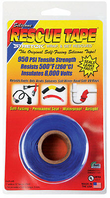 "NEW! RESCUE TAPE Silicone Tape 1"" x 12' Blue RT1000201206USC"