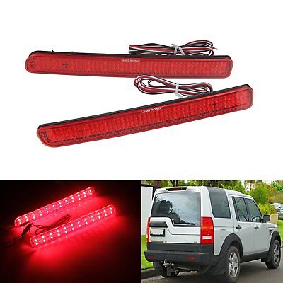24 SMD LED Red Rear Bumper Reflector Tail Stop Fog Light For Discovery LR3 LR4