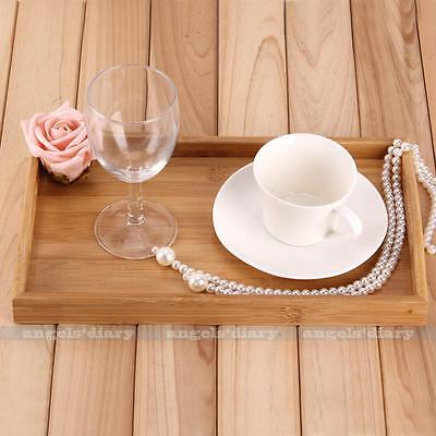 Vintage BAMBOO SERVING TRAY Tea Coffee Table Wooden Breakfast in Bed Gift