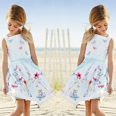 New Baby Girls Princess Party Flower Gown Formal Dresses Summer Casual Sundress