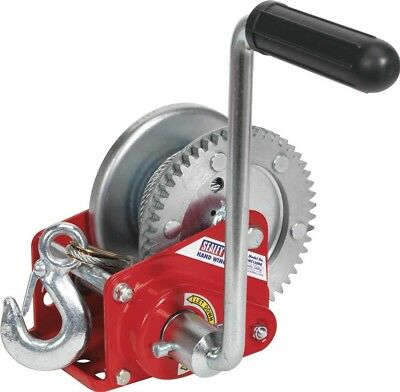 Sealey Geared Hand Winch with Brake & Cable 540Kg Capacity GWC1200B