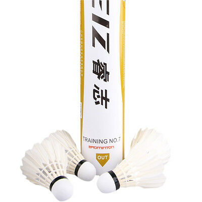 12x Badminton Shuttlecocks Duck Feather Competition Professional