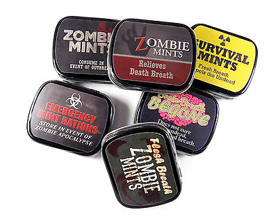 Novelty Mints Zombie Refreshing and long lasting Candy Mint Tin box