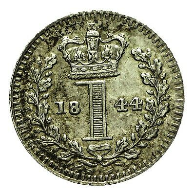 Queen Victoria Silver Maundy Penny 1844
