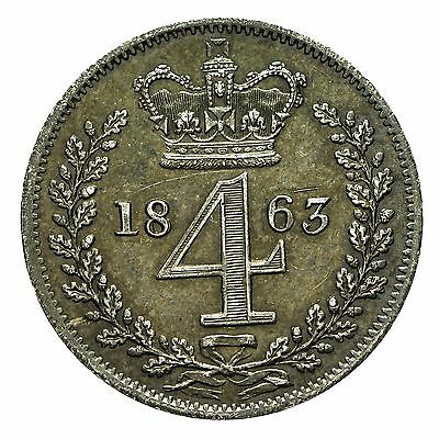 Queen Victoria Silver Maundy Fourpence 1863