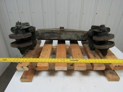 "Bridge Crane 3-1/4"" Beam Trolley End Truck Overhead Hoist Trolley 6-1/2"" Wheels"