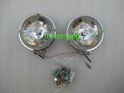 Motorcycle Motorbike Driving Lights Spot Lights With Clear Lens