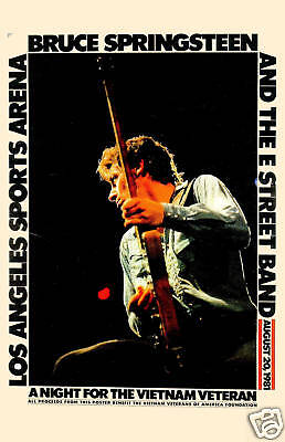 Bruce Springsteen at the Los Angeles Sports Arena Concert Poster 1981