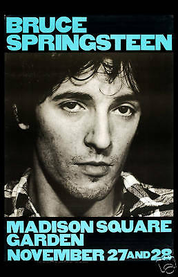 Bruce Springsteen at Madison Square Garden New York Concert Poster 1980