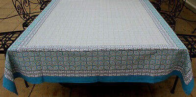 Vintage  Style  Cotton Tablecloth  ( 10 seater )  150 x 320cm   BRAND NEW
