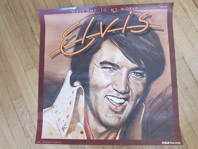 ELVIS PRESLEY Welcome to my world promo poster 22x22  1977