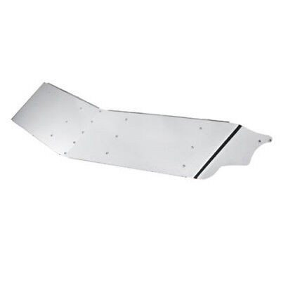 """14"""" Stainless Steel Peterbilt Drop Visor - Ultra Cabs 377, 378 and 379"""