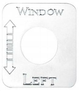 Kenworth Window Left Switch Plate, Stainless Steel
