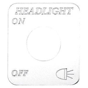 Freightliner Chrome Headlights Switch Plate Engraved
