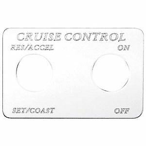 Freightliner Chrome Cruise Control Switch Plate Engrave