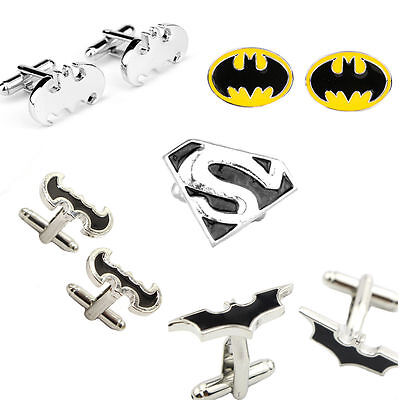 1 Pair Men's Jewelry Stainless Steel Batman Party Shirt Cufflinks Cuff Link