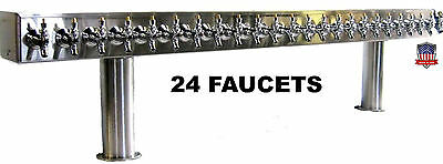 Stainless Steel Draft Beer Tower Made in USA 24 Faucets GLYCOL READY - PTB-24SSG
