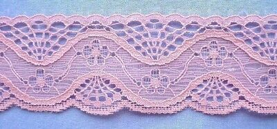 40mm Dusty Pink Lace (x 2 metres)