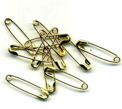 Gold Safety Pins Size 00 (12 pk)
