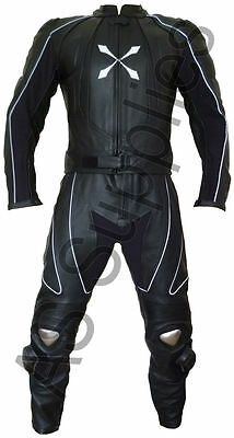 """SYZYGY"" neXus 2-piece Reflective Leather Biker Motorcycle Suit - All sizes!"