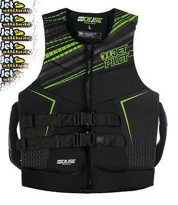 Gilet Néoprène The Cause Neo Vest Green Jet Pilot 2016- Norme CE ISO 50N-Jet-PWC