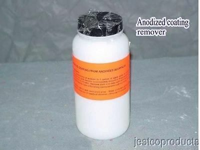 Anodize coating remover for aluminum trim strips hard coating before buffing