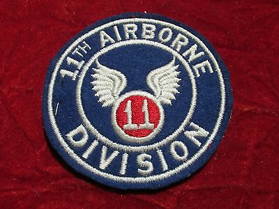 11th Airborne Division Patch Fully Embroired attached tab w/store tag LARGE Size