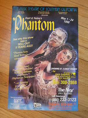 PHANTOM Kopit & Yeston Poster 13x20 Alex Theater