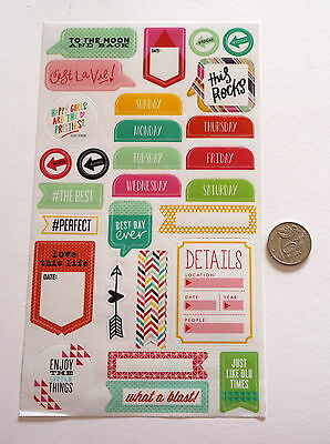Scrapbooking No 117 - 25 Plus Sayings Stickers - Mixed Pack